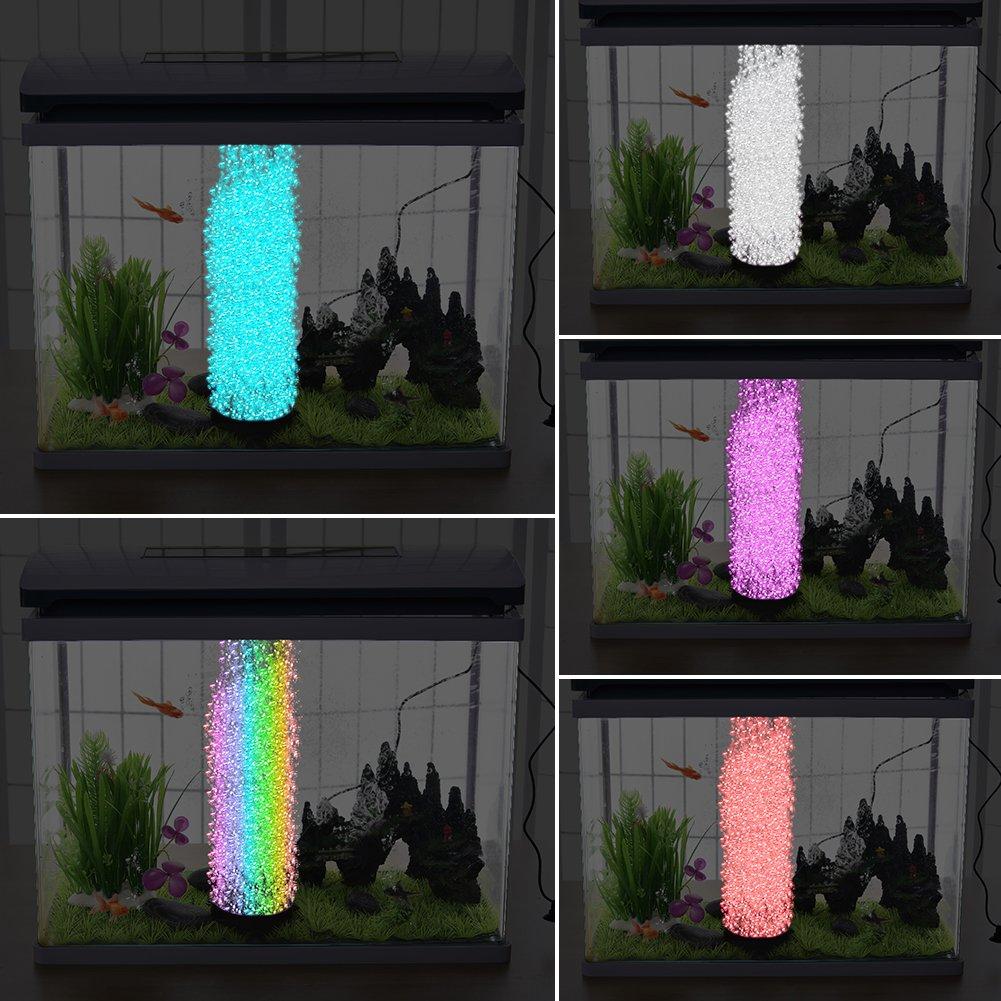 Starter Luz Redonda del Acuario Sumergible | 12 Iluminación Subacuática Ilevada del Tanque de Pescados del RGB | Lámpara de Burbujas de Aire DC 12V ...