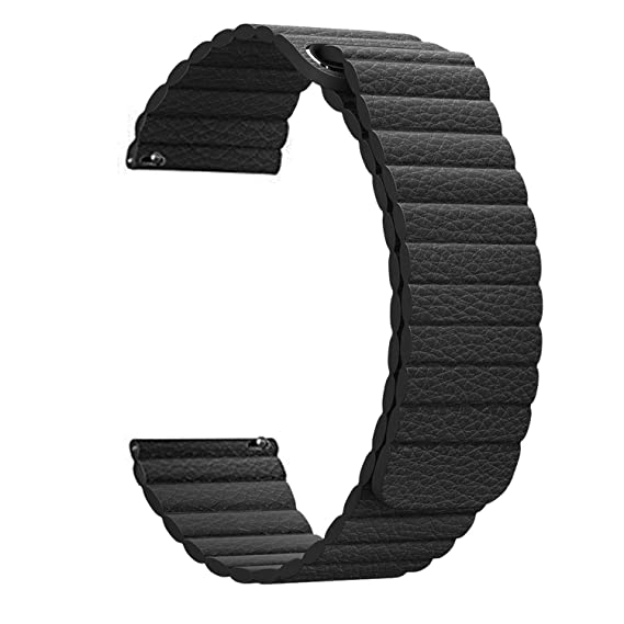 Jewh Genuine Leather Loop Magnetic Band - Strap for Garmin Forerunner 645 - Smart Watch Closure