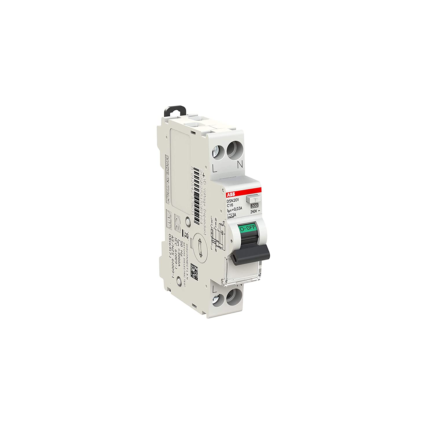 RCBO ABB2CSR255150R1164 ABB DSN201 A-C16//0.03 Residual current circuit breaker with overcurrent protection
