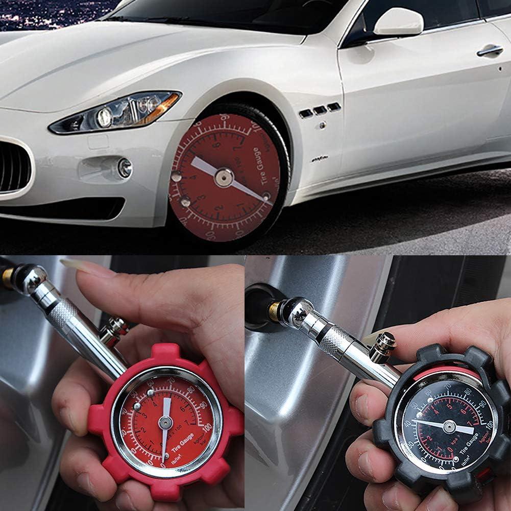 XQxiqi689sy Durable Car Tire Pressure Gauge Manometer Tyre Dial Meter Tester Diagnostic Precise Tool