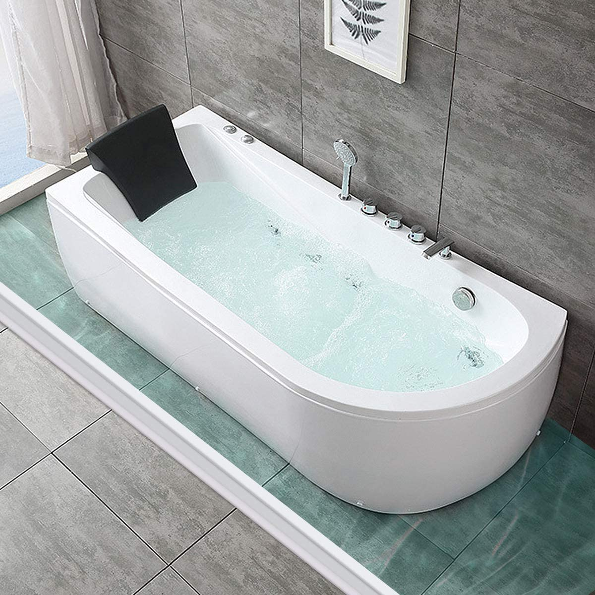 Colorjoy Umbral de ducha plegable Presa de agua Barrera de ducha y ...