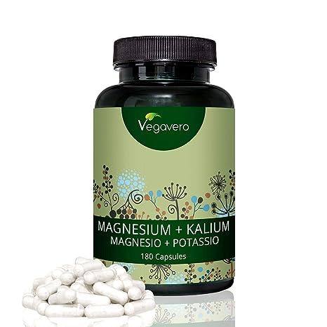 Citrato de Magnesio + Citrato de Potasio Vegavero® | 120 Cápsulas | Testado en Laboratorio