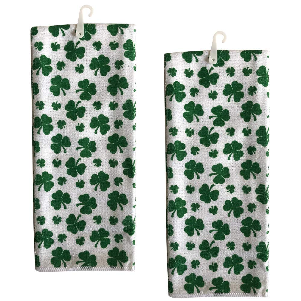 St Patricks Day Shamrock Kitchen Towels Set of 2 | Irish Kitchen Towels | St Patricks Hand Towels Bathroom Decoration | St Patricks day decorations Dish Towel Set | Saint Patrick Kitchen Towels Set