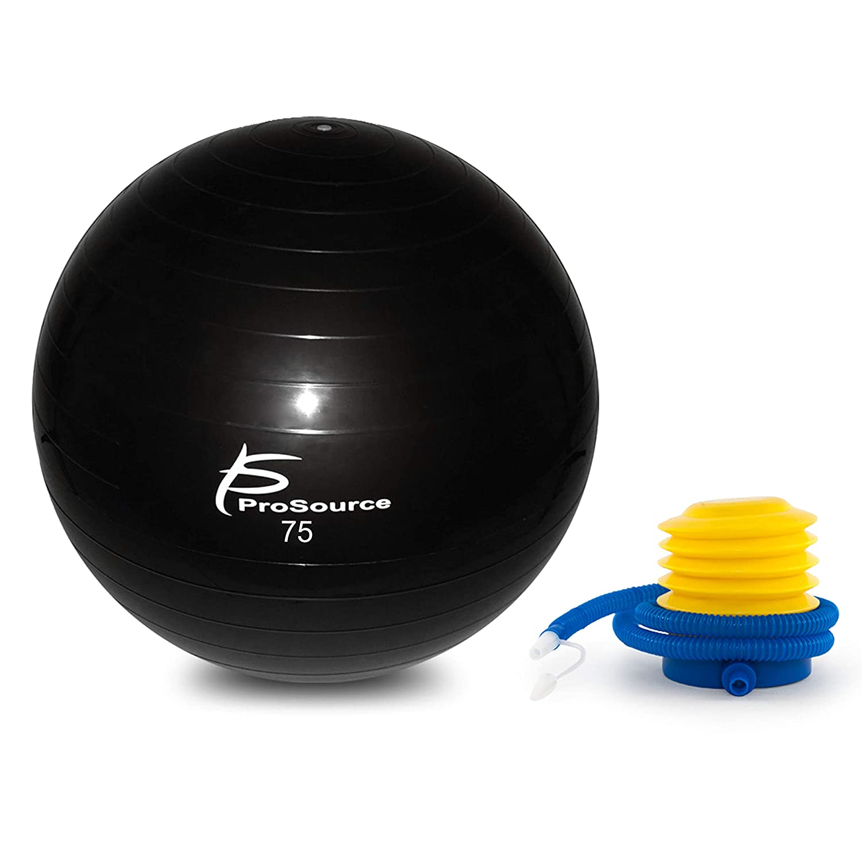 ProSource; Anti-Burst Exercise Stabilität Ball mit Fuß Pumpe, 3 Größen erhältlich 55, 65, und 75