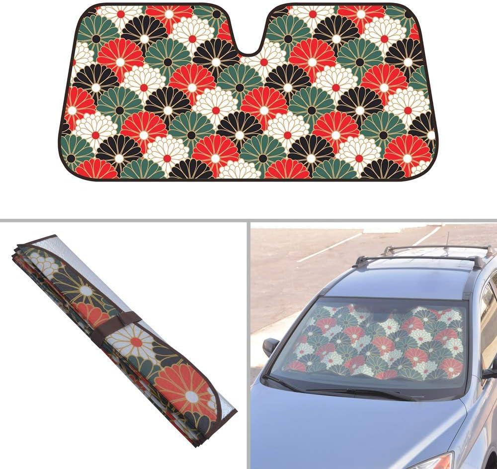 Accordion Style Sedan Truck SUV Van BDK Southwest Cactus Auto Windwhield /& Side Sun Shades for Car Auto