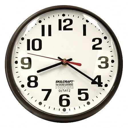 9-1 5 Round Wall Clock Arabic, Brown High Impact Polystyrene Frame