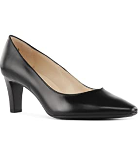 ad7ca6dd346 Peter Kaiser Mani Classic Semi-Pointed Mid Heel Court Shoes in Black Leather