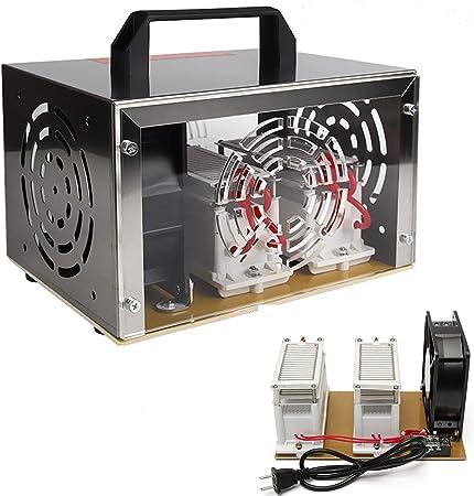 Generador de ozono Comercial O3 Home Ozone Generator 20000 MG/h purificador de Aire máquina Fresca con Cubierta de Acero Inoxidable para cobertizo y Taller (110 V ...