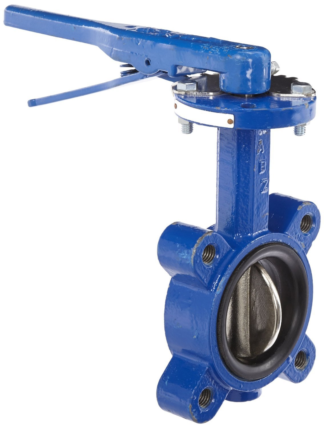 Dixon BFVL300 Ductile Iron Threaded Lug Style Butterfly Valve with Aluminum Bronze Disc and Buna-N liner, 3'' Size, 200 psi Pressure