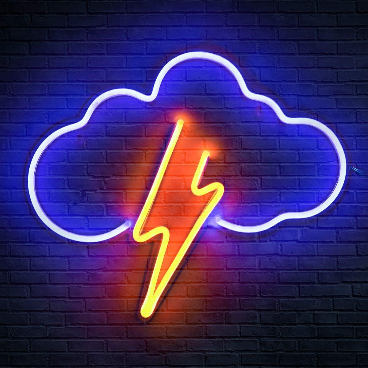 Koicaxy Neon Sign, Cloud Led Neon Light Wall Light Wall Decor, Battery or USB Powered Light Up Acrylic Neon Sign for Bedroom, Kids Room, Living Room, Bar, Party, Christmas, Wedding