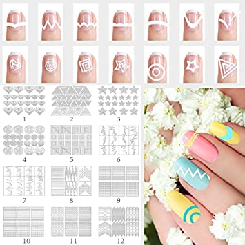 BTArtbox 3D Nail Art Stickers 1 Pack 12 Different Cute Cat Designs Best Nail  Art Decals