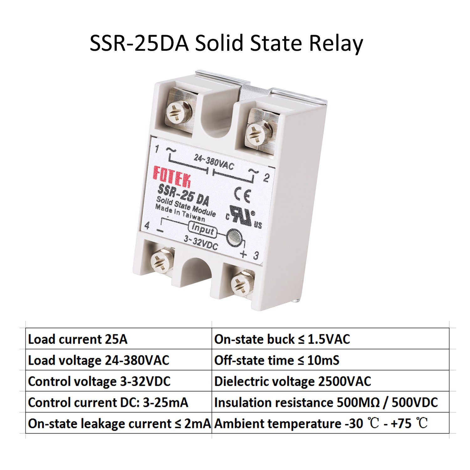 Solid State Relay 3pcs Ssr 25da Heat Sink Taiwan Input 3 32v Dc Output 24 380v Ac Industrial Scientific