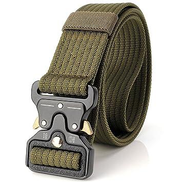 f485eb2ded31 Ceinture tactique de 3,8 cm, ceinture durable, ceinture de nylon militaire  réglable