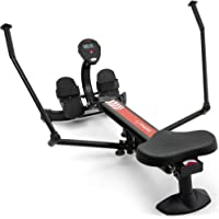 Lanos Hydraulic Rowing Machine | Adjustable Resistance | Rowing Machines for Home Use | LCD Monitor | Compact for Home…
