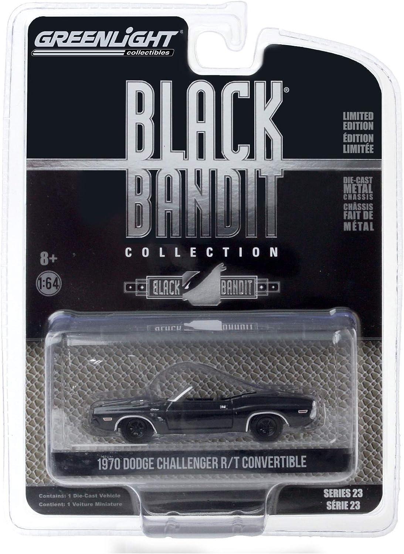 Greenlight 1:64 Black Bandit 23-1970 Dodge Challenger Convertible #28030-C