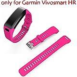 ULT-unite Band for Garmin Vivosmart HR, Garmin Vivosmart HR Replacement Soft Silicone Bracelet Sport Strap Wristband Accessory