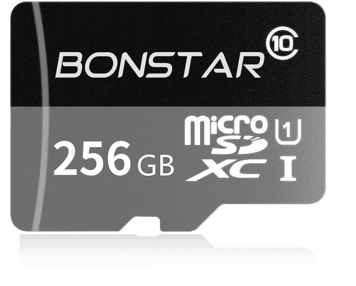 BONSTAR Tarjeta de Memoria microSDXC de 256 GB con UHS-I Clase 10 + Adaptador SD