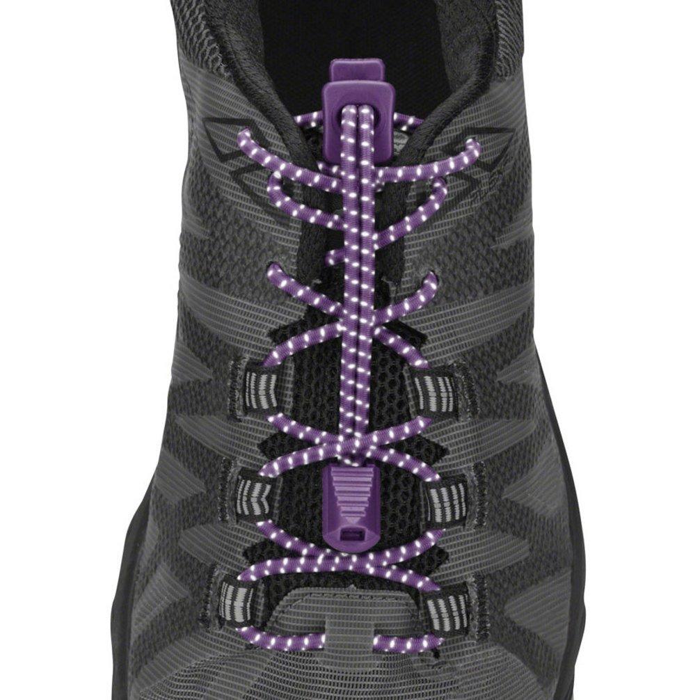 Nathan 1171 Run Laces Reflective, Purple, Purple Magic by Nathan