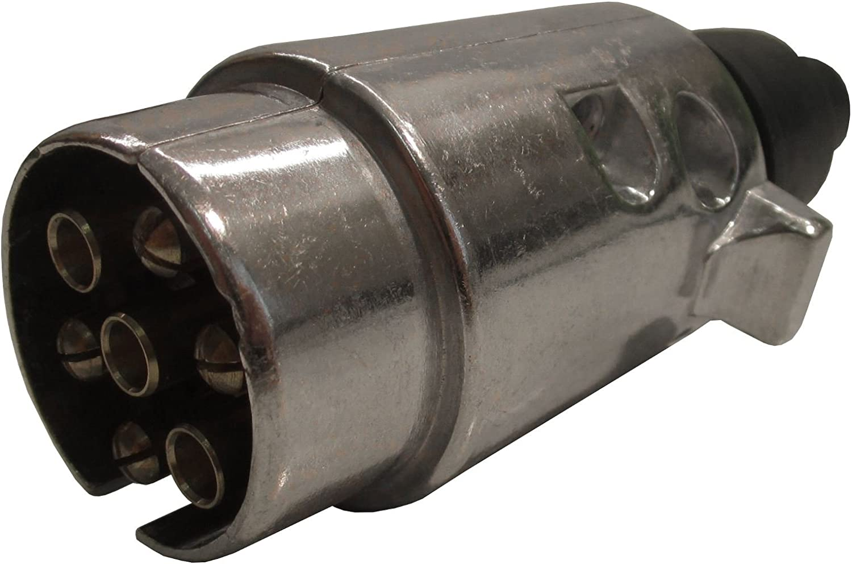 AB Tools Trailer//Caravan Plug 7 Pin N Type Aluminium Metal Casing TR040