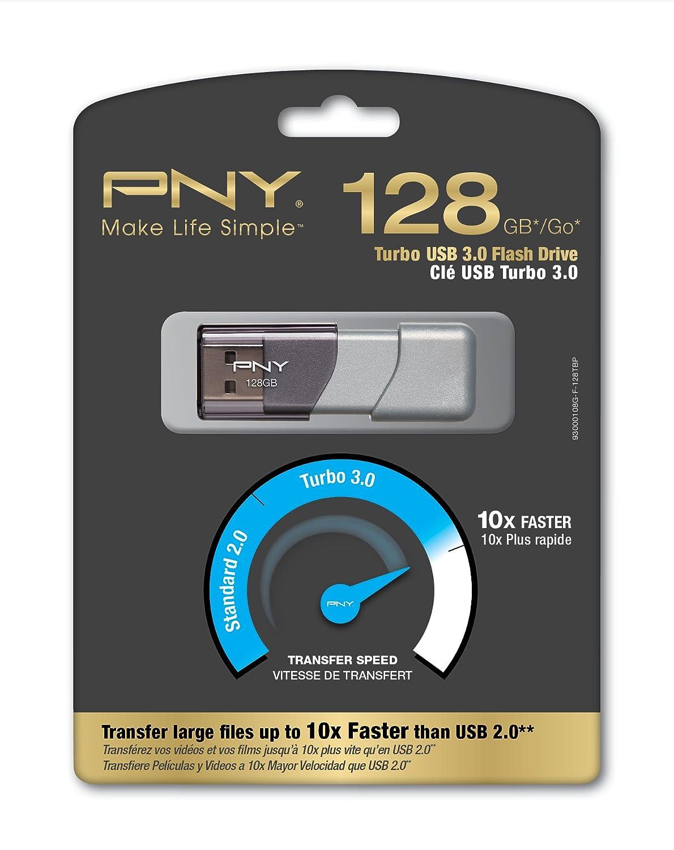 Pny P-Fd128Tbop-Ge Unidad Flash Usb 128 Gb 3.0 3.1 Gen 1 Conector Usb Tipo A Plata - Memoria Usb 128 Gb, 3.0 3.1 Gen 1, Conector Usb Tipo A, 190 Mb/S, ...