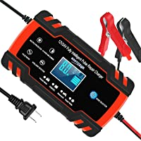 Automotive Battery Charger 12V/8A 24V/4A Trickle Charger Smart Automatic Battery Charger for Car Motorcycle Boat Marine…