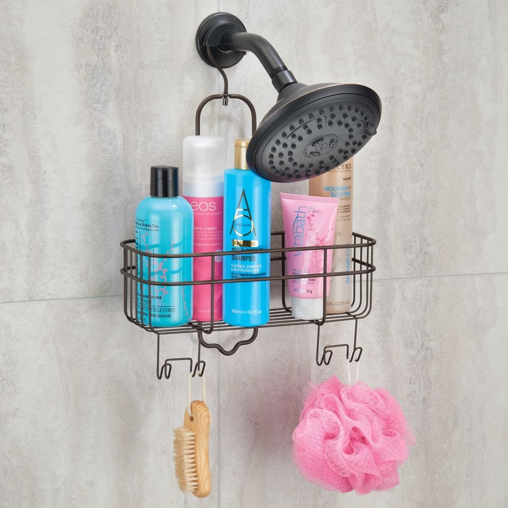 Amazon.com: InterDesign Euro Shower Hanging Caddy Organizer with ...