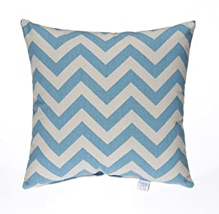 product image for Glenna Jean Little Sail Boat Pillow, Blue Chevron