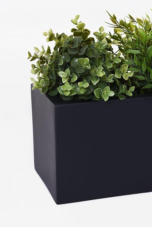 "Blumenkasten Balkonkasten aus Fiberglas /""Flobo/"" 60 cm Anthrazit"