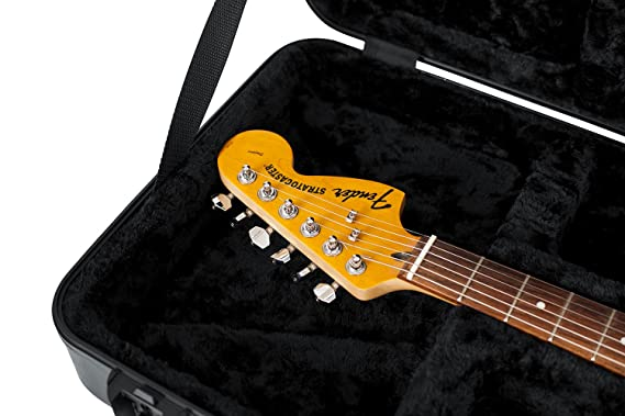 2dfa400a43f Amazon.com: Gator Cases Molded Flight Case For Strat/Tele Style Electric  Guitars With TSA Approved Locking Latch (GTSA-GTRELEC): Musical Instruments