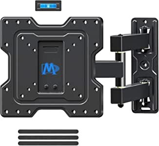 """Mounting Dream Full Motion TV Wall Mount Bracket Articulating Arms with 18.8"""" Extension Perfect Center Design, Fits 17-39 Inches LED, LCD TV Max VESA 200 X 200mm, 60 lbs Loading, MD2413-S-04"""