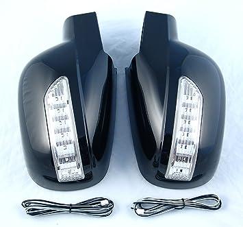 Rexton I/II Espejo Carcasa Espejo con LED Intermitente Izquierda Derecha Color Negro Lak: Amazon.es: Coche y moto