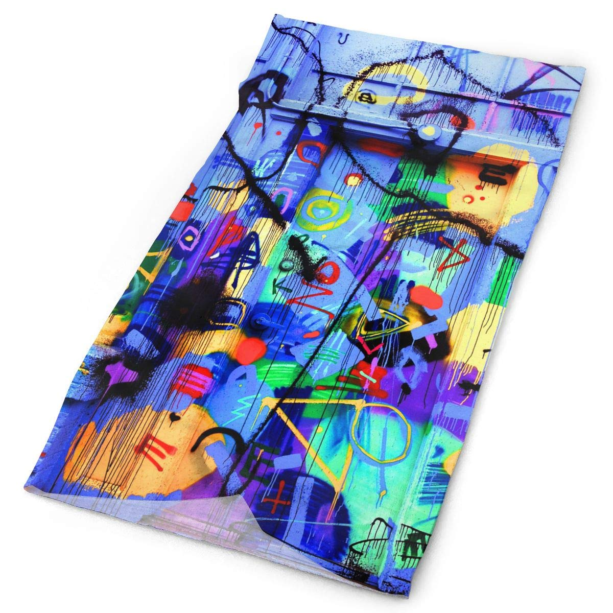 Graffiti Door Colorful Unisex Fashion Quick-Drying Microfiber Headdress Outdoor Magic Scarf Neck Neck Scarf Hooded Scarf Super Soft Handle