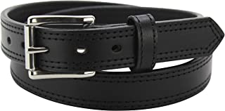 "product image for Men's Leather Belt - Heavy Duty Double Stitched Belts -Made in USA - 1.25"" Wide"