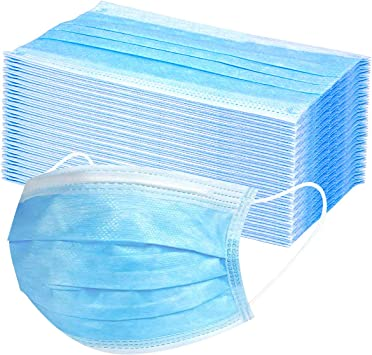 Amazon Com Disposable Earloop Face Mask Thick 3 Ply Masks With