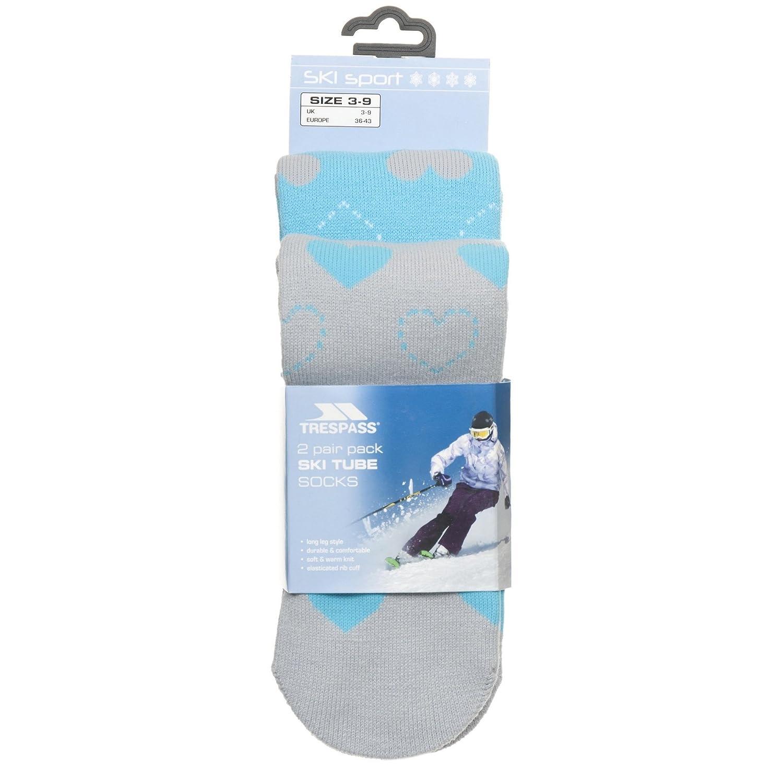 Trespass Womens/Ladies Luv Ski Socks (5-11 US) (Lagoon/Gray Marl) UTTP730_4