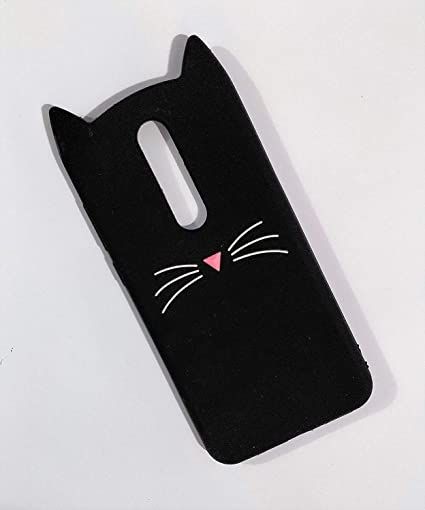 brand new b8819 fd6b5 mobcruz 3D Mustache Cat Kitty Ears Meow Soft Silicone: Amazon.in ...