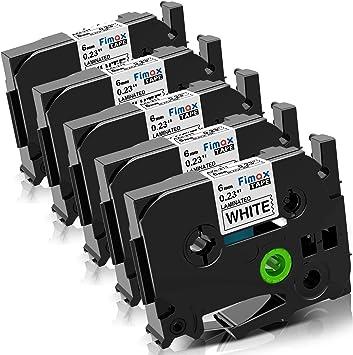 3 Schriftbänder kompatibel zu Brother P-Touch TZE-111 8m//6mm Schwarz auf Klar