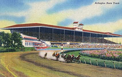 Amazon com: Arlington Heights, Illinois - Horse Race at
