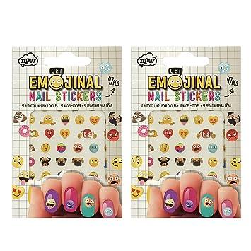Amazon Npw Get Emojinal Emoji Nail Stickers Nail Art 2 Pack