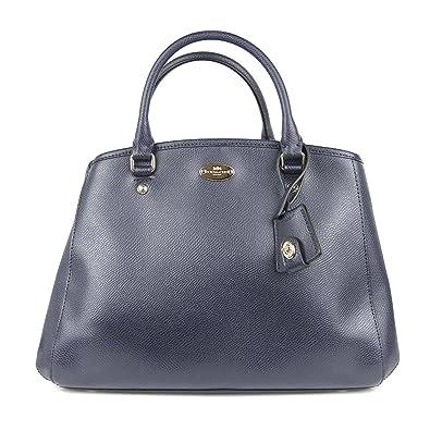 Coach Crossgrain Leather Margo Carryall - Midnight  Handbags  Amazon.com a8b33d37ee359