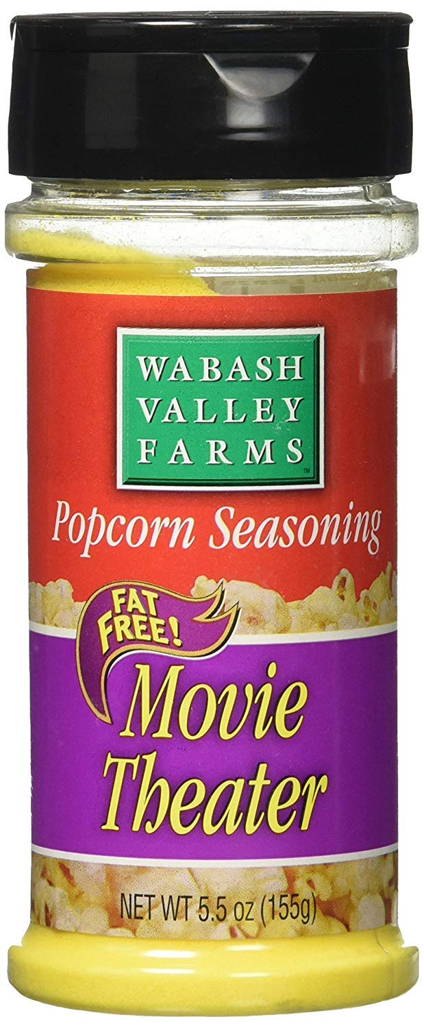 Wabash Valley Farms Popcorn Seasoning, Movie Theater Style - Convenient Shaker Bottle for Easy Application - Great for Potatoes, Corn and More - Fat-Free, 0 Calories Per Serving - Gourmet Quality