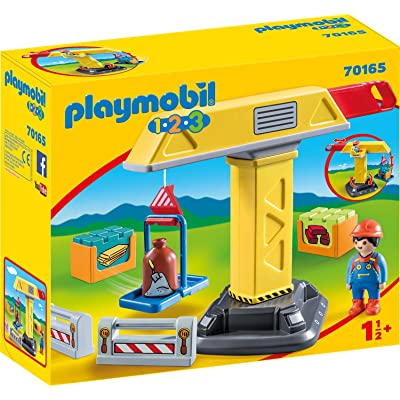 PLAYMOBIL Construction Crane 70165 1.2.3 Building Set: Toys & Games