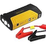 Jump Starter 16800mAh, Yokkao® Avviatore di Emergenza per Auto Caricabatteria Portatile con 2 Uscite USB Torcia Led per Auto Smartphone PC Notebook Tablet (Giallo)