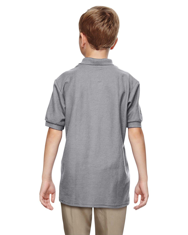 Gildan Boys DryBlend 6.3 oz. Double Piqué Sport Shirt (G728B) -Sport Grey -M-12PK by Gildan (Image #4)