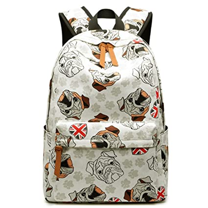 Amazon.com: Cute Canvas Women Backpack Kawaii Flamingos Animal Pattern Printing Girls Bookbags College Daily Mochila White: Sports & Outdoors