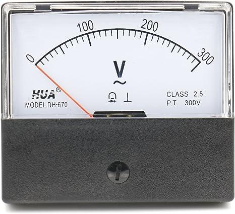 SODIAL Dh-670 Precisione Voltmetro Del Pannello Analogico Dc 30V