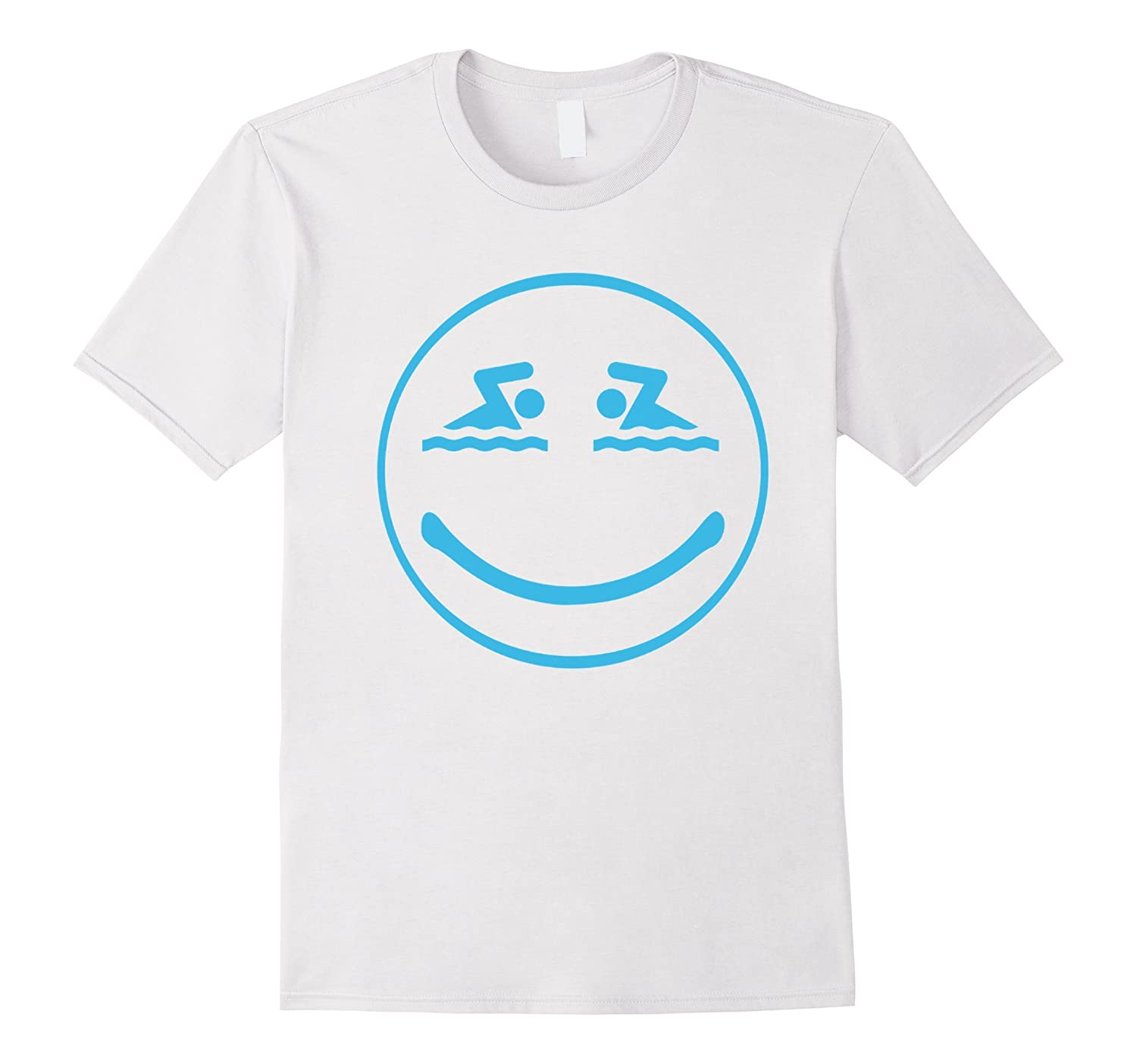 Swimming Happy Face Smiley Swimming T-shirt-Art