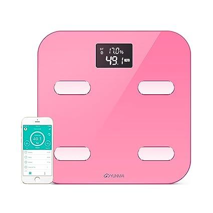 YUNMAI Escala corporal-Báscula de baño Bluetooth con 10 estatus corporal (incluyendo grasa corporal