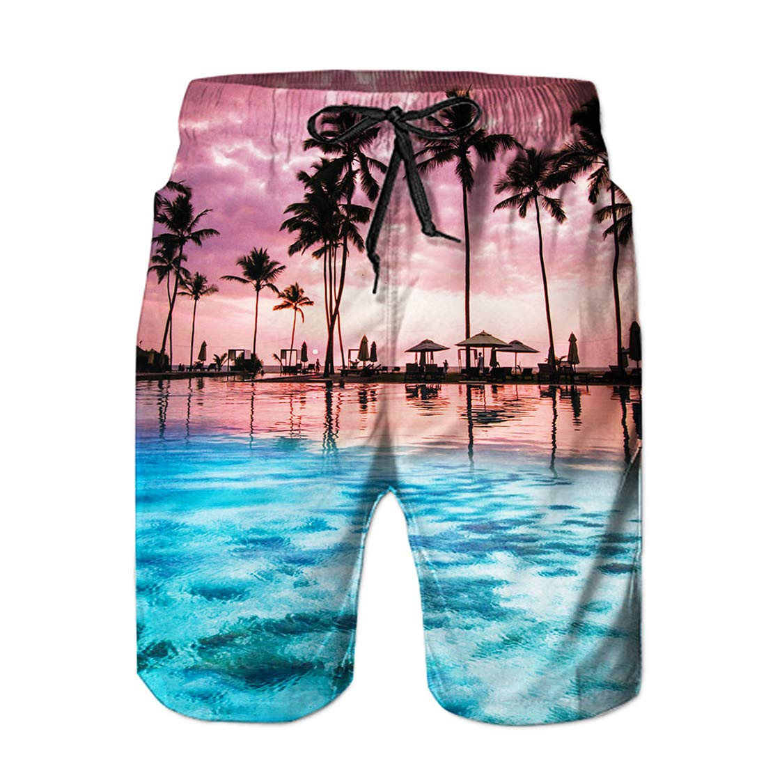 563e62eda6 Galleon - Alistyle Mens Swim Trunks Funny 3D Print Summer Cool Quick Dry  Board Shorts Bathing Suit With Mesh Lining