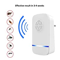 Tdas ABS Thermoplastic Ultrasonic Pest Control Repeller Killer Electronic Device for Mosquito Lizards (White)